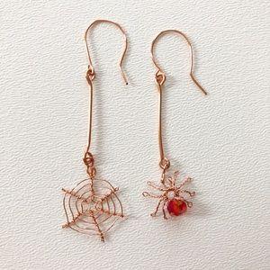 Handmade Spider & Web Earrings Halloween